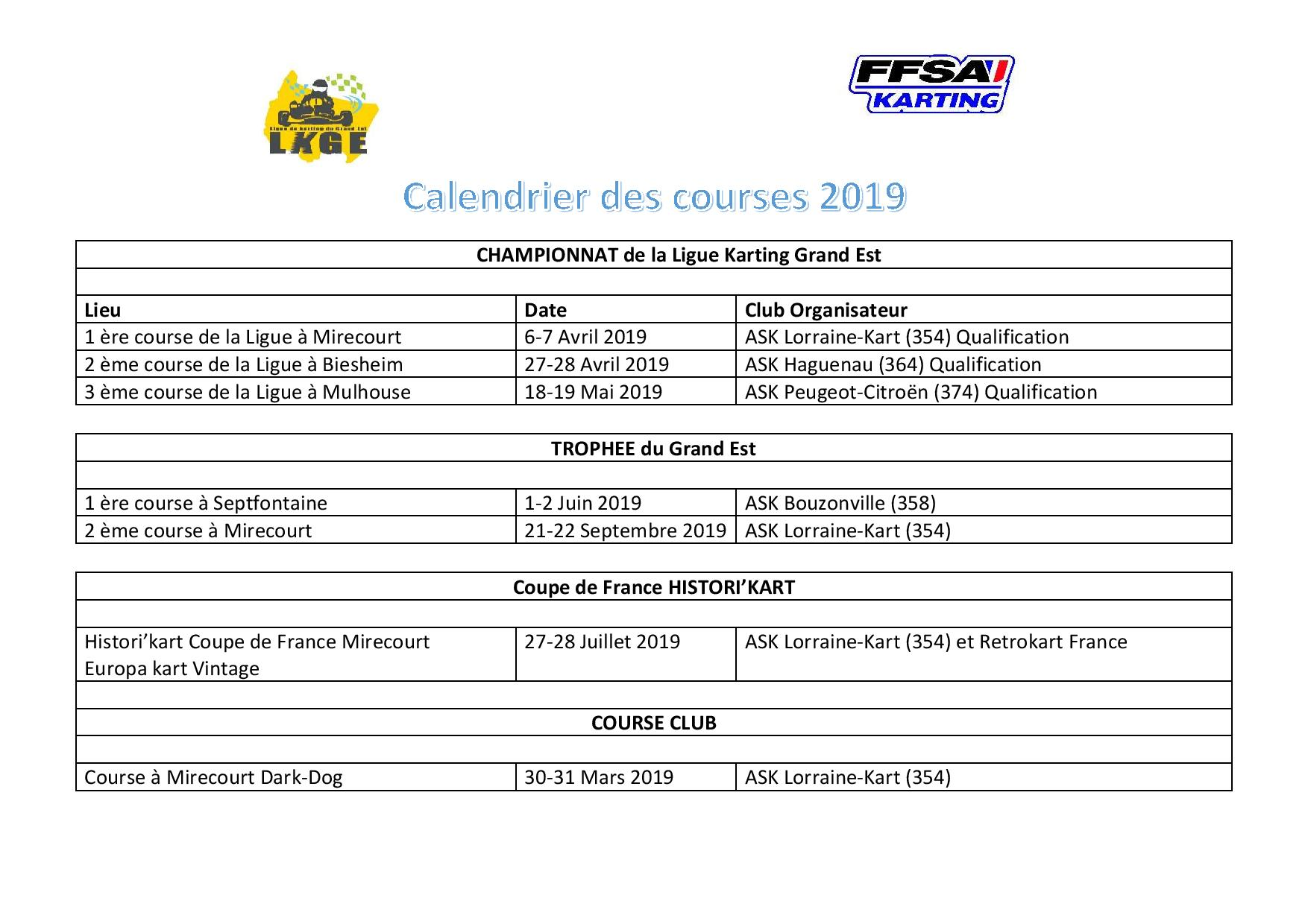 Ligue karting ge calendrier courses page 2